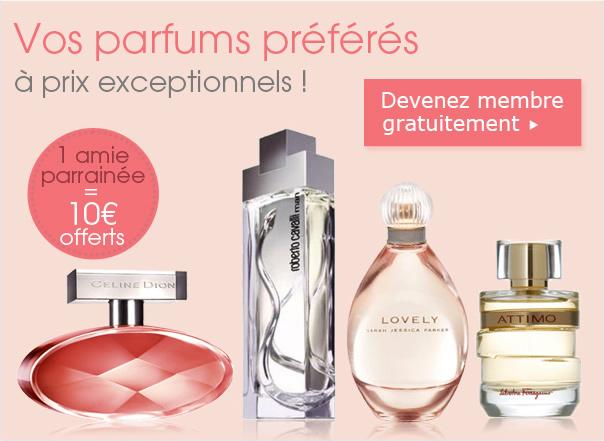 Vos parfums préférés à prix exeptionnels !