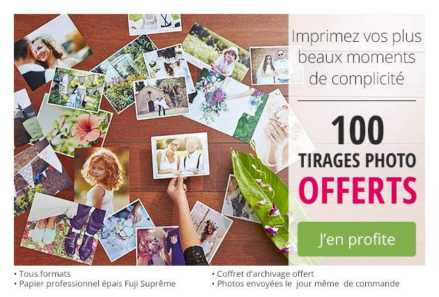 100 TIRAGES PHOTO OFFERTS