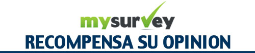 MYSURVEY RECOMPENSA SU OPINION